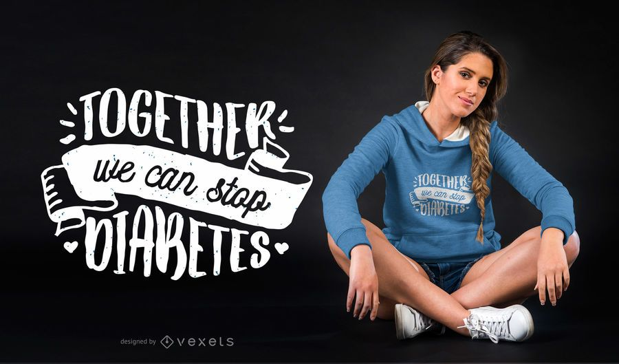 Stop Diabetes T-shirt Design