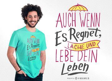Viva o seu design de camiseta de vida