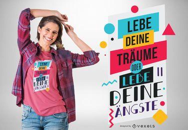 Viva seus sonhos design de t-shirt