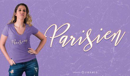 Diseño de camiseta parisina