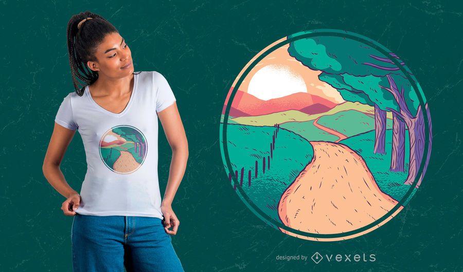 Projeto Home do t-shirt da estrada
