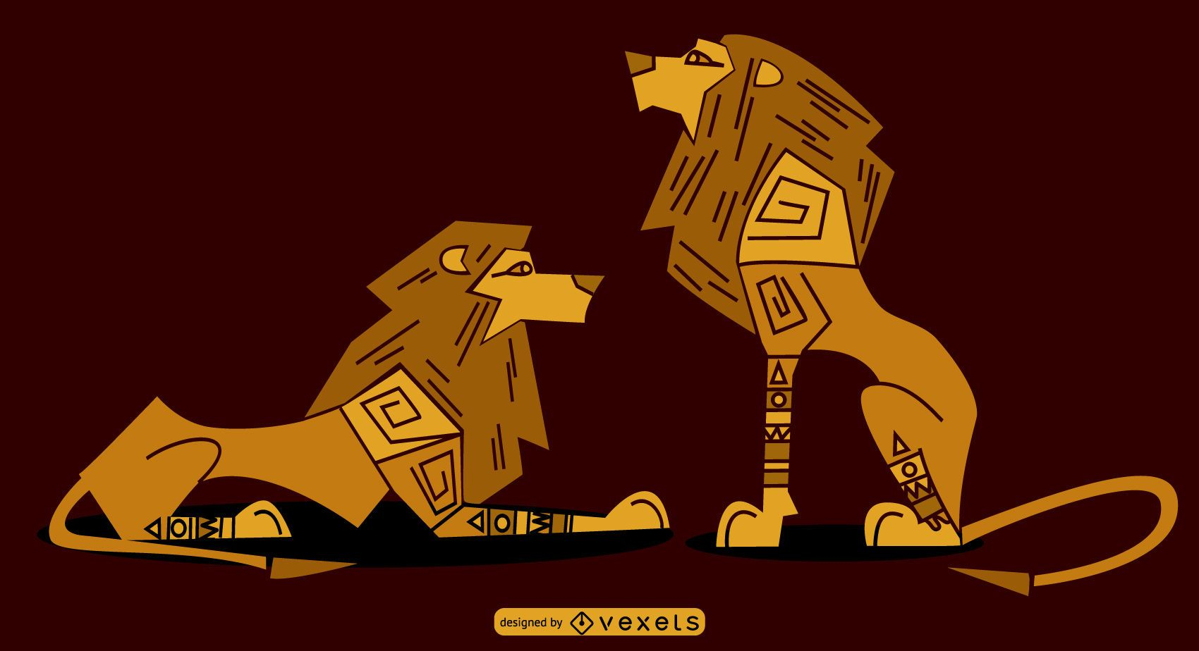 Egyptian Sylish Lions Set