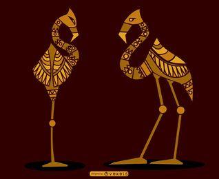 Ägyptische Flamingos