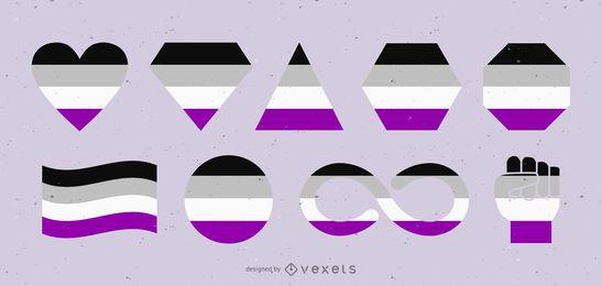 Ilustração de design de forma múltipla