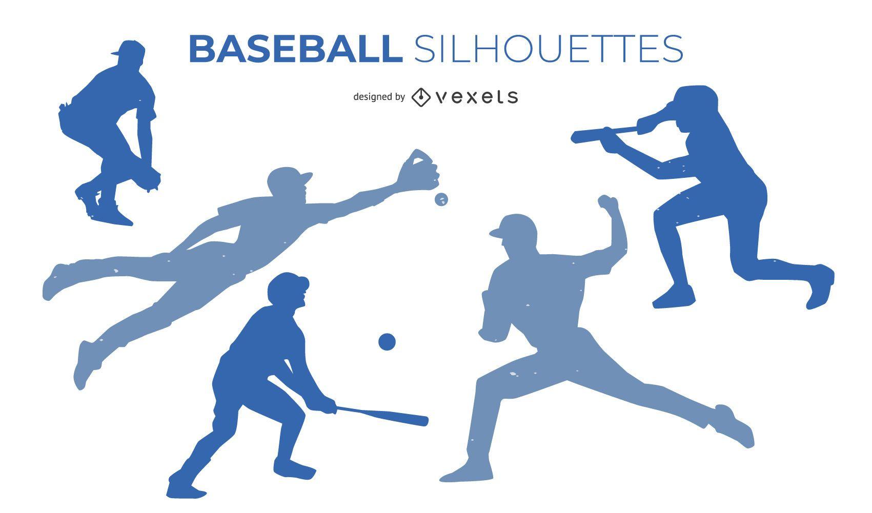 Baseball Silhouette Design Set