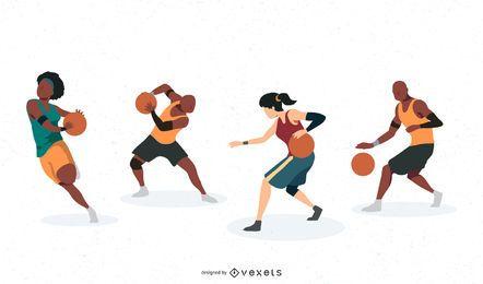 Personagens de jogador de basquete