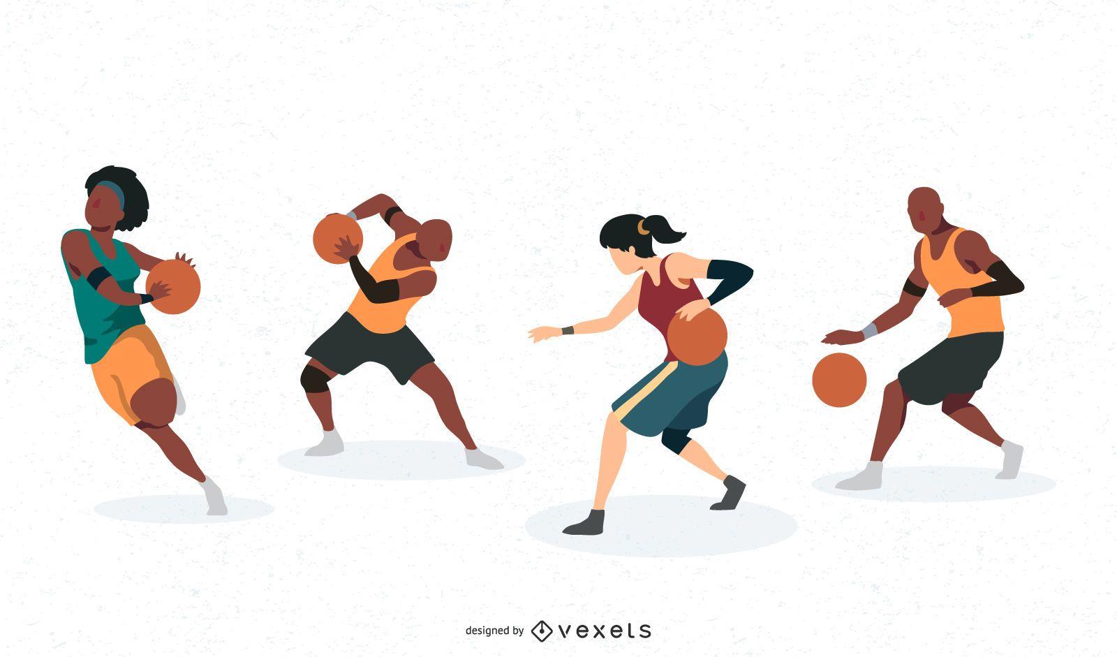 Personajes de jugador de baloncesto