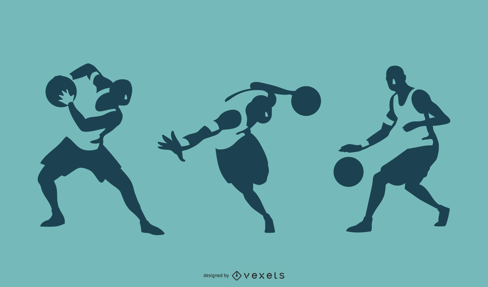 Siluetas de jugador de baloncesto