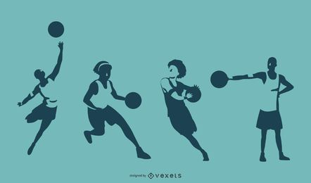 Basketball-Spieler silhouettiert Illustration