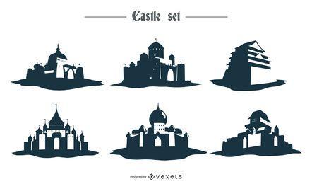 Desenho da silhueta do castelo
