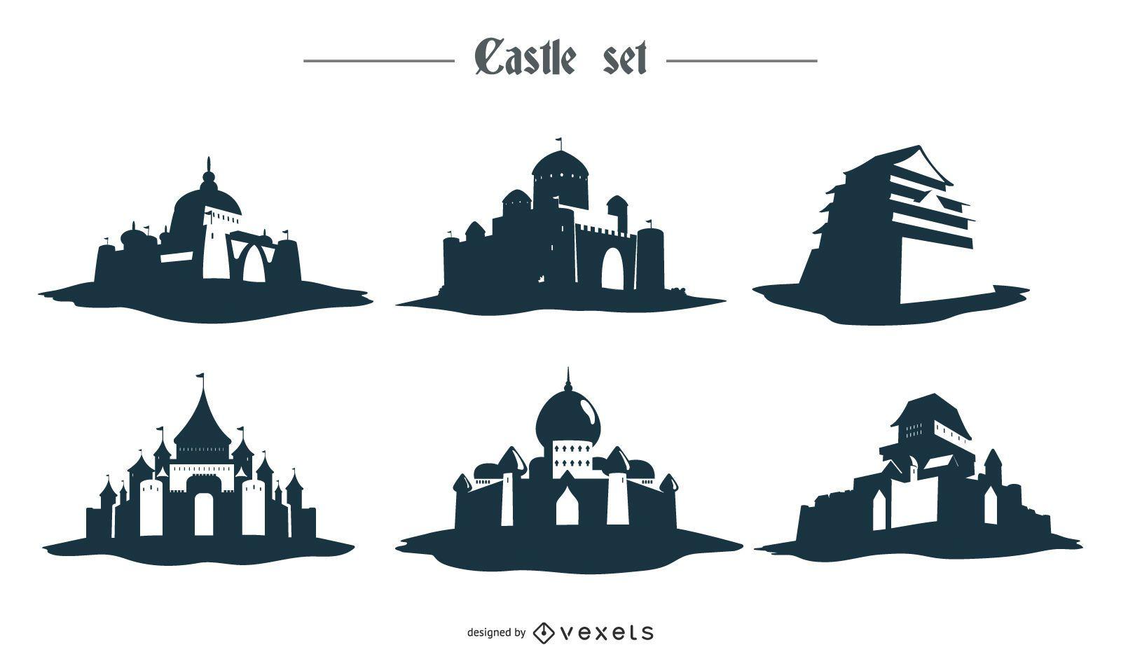 Castle Silhouette Design