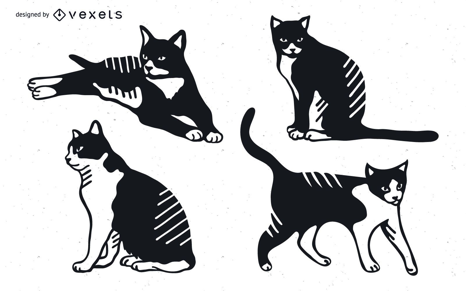 Cat Detailed Silhouette Design