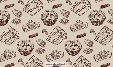 Patrón de trazo de panadería