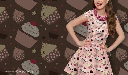Cupcake und Muffin-Muster