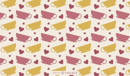 Diseño lindo de la taza de café