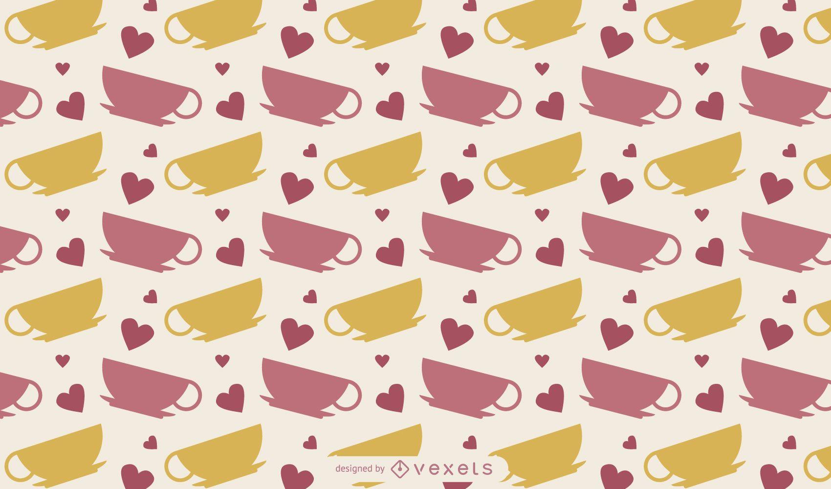 Lindo diseño de taza de café