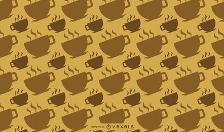 Padrão de xícara de café quente