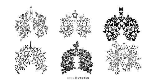 Cystic Fibrosis Silhouette Design Set