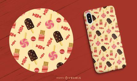 Capa para celular de doces e guloseimas