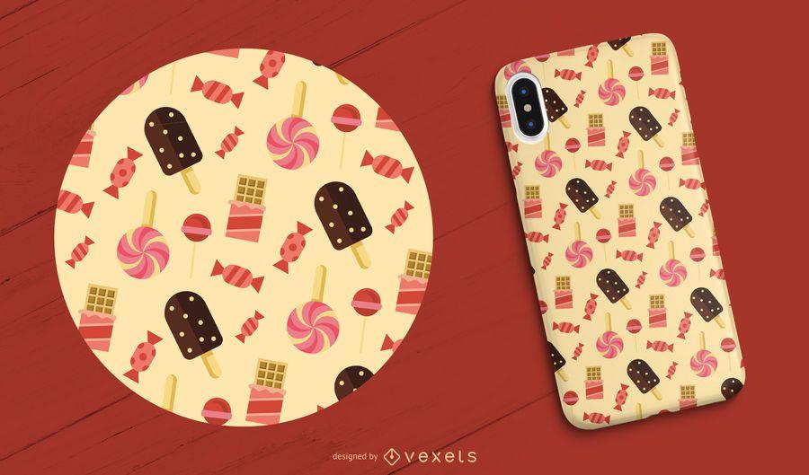 Caja del teléfono de dulces y caramelos