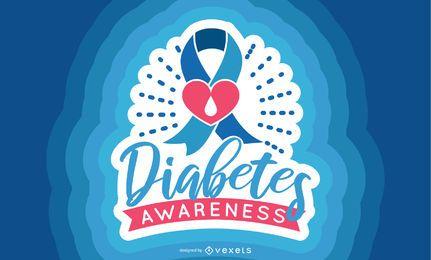 Diseño de banner de concienciación sobre diabetes