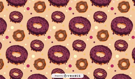 Chocolate donut pattern design