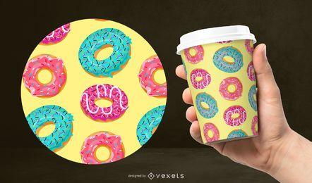 Buntes Donutmusterdesign