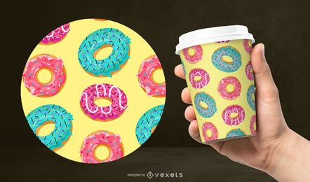 Colorful donut pattern design