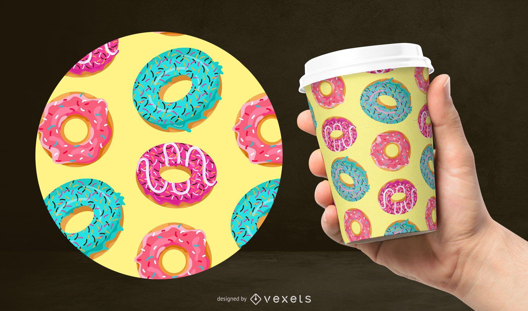 Colorful donut pattern design