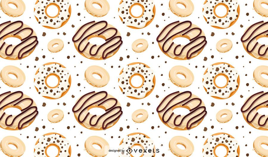 White chocolate donut pattern