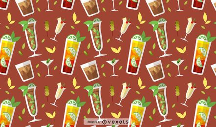 Drinks seamless pattern design