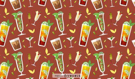 Nahtloses Musterdesign der Getränke