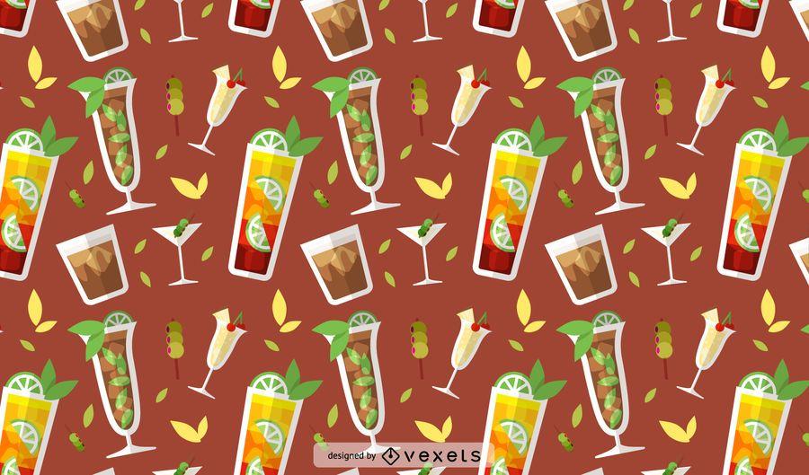 Drinks seamless pattern design