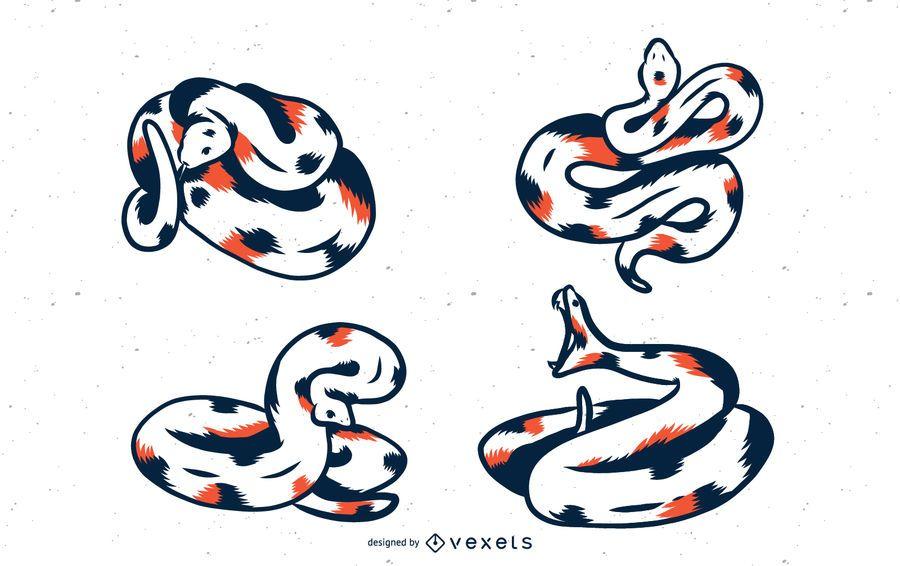 Conjunto de vectores de serpiente duotono