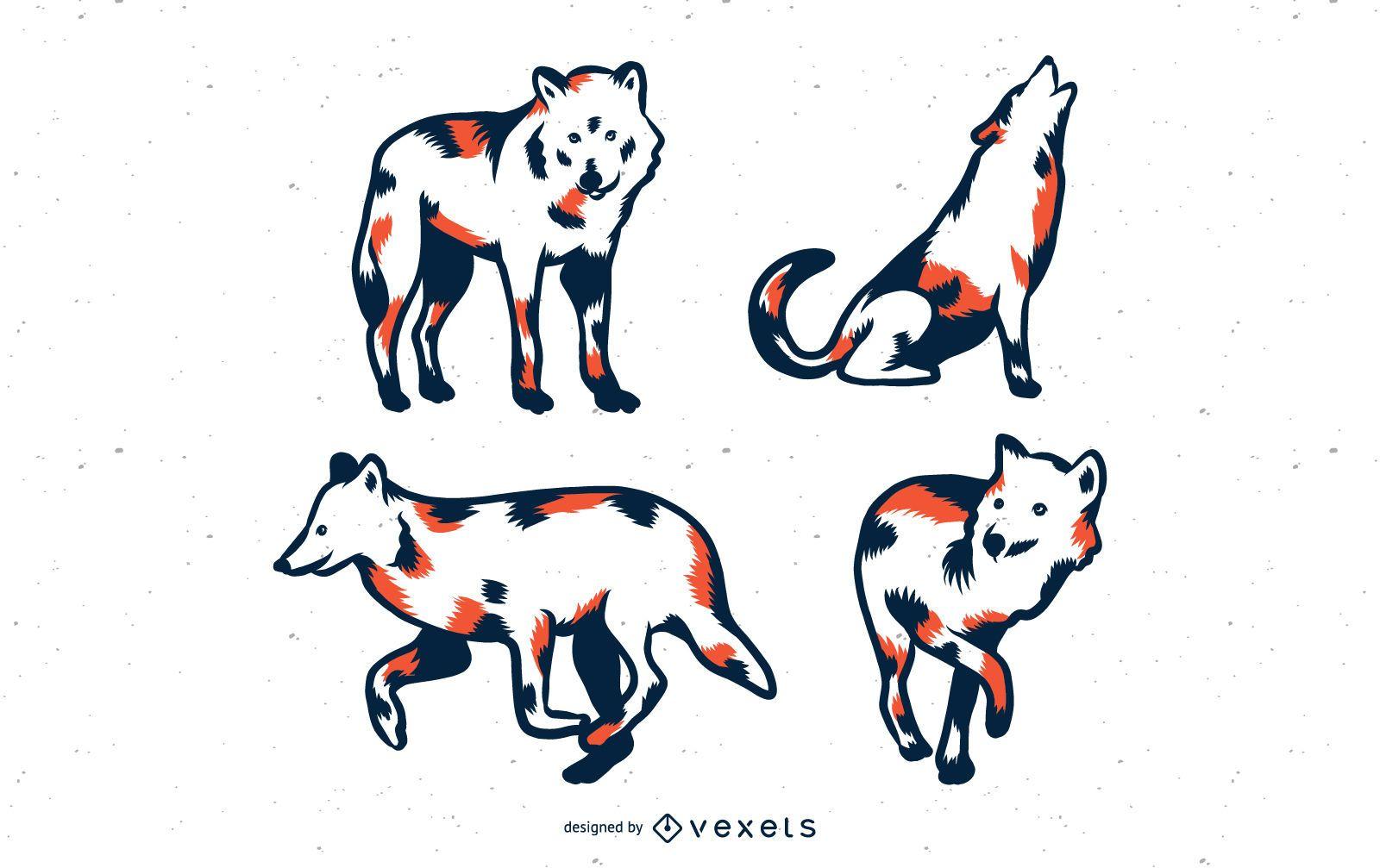 Conjunto de vetores de lobos duot?nicos