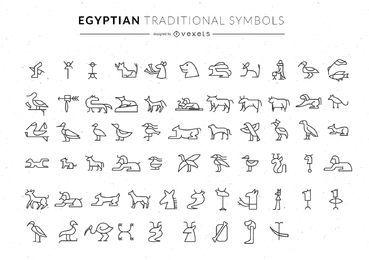 Coleção de símbolos egípcios