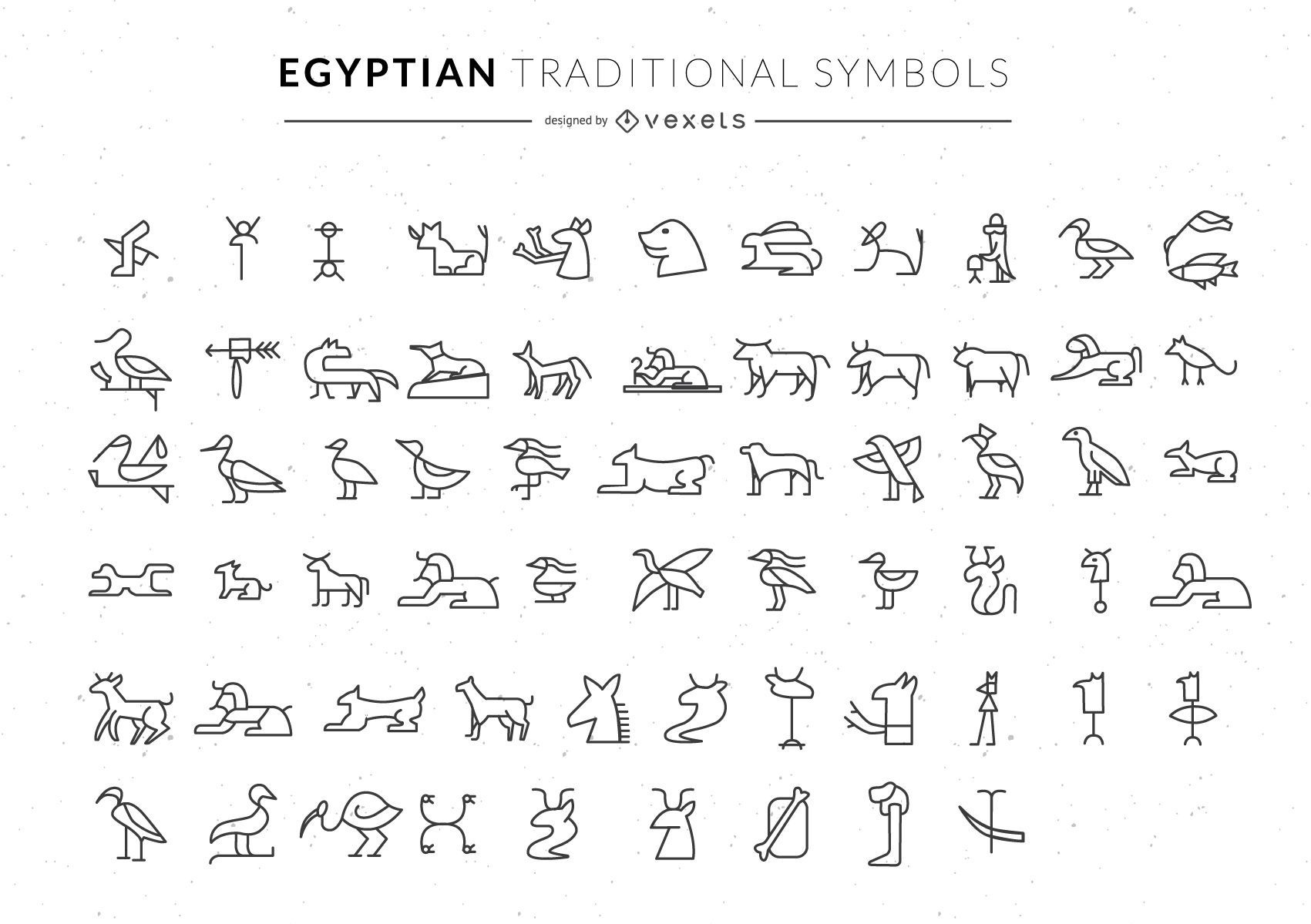 Egyptian symbols collection
