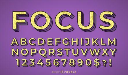 Conjunto de vetores de alfabeto de foco