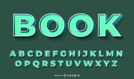 Conjunto de vectores de alfabeto verde 3D