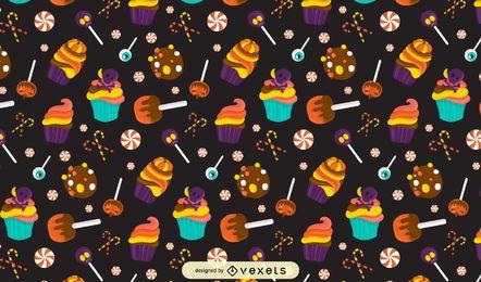 Halloween-Süßigkeitsmusterdesign