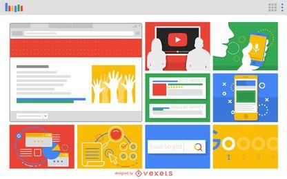 Diseño web de diseño de aplicaciones web
