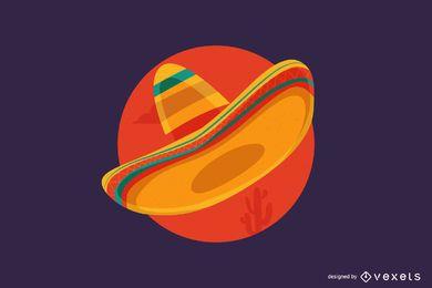 Mexikanischer Sombrero-Cartoon