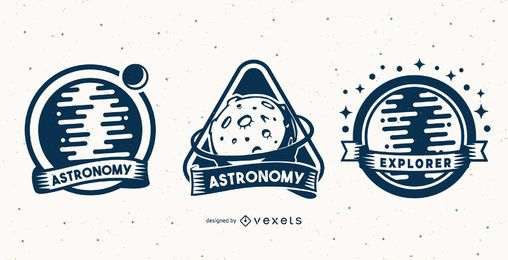 Astronomy badge set