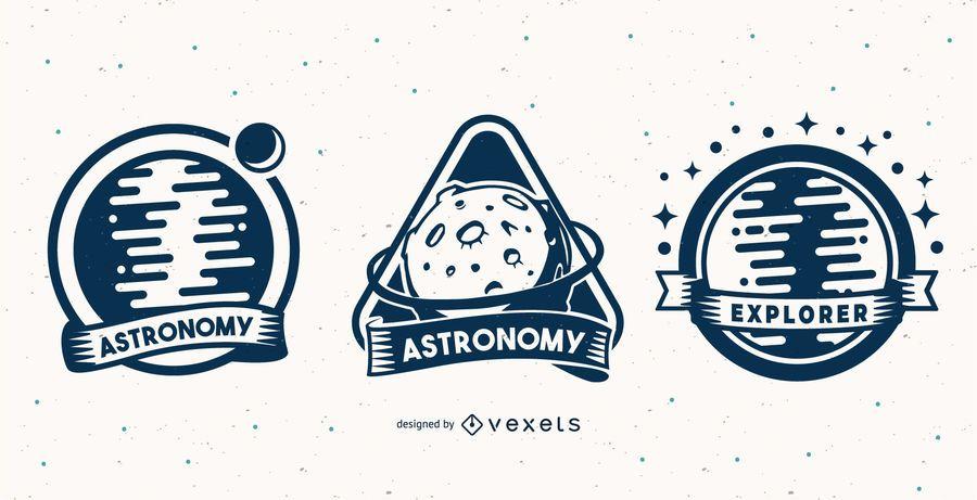 Astronomy badge set