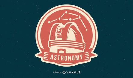 Distintivo de espaço de astronomia