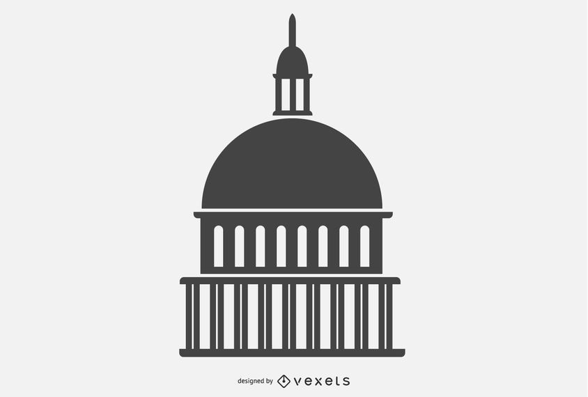 Building Dome Silhouette Vector