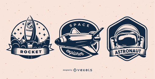 Conjunto de distintivo espaço
