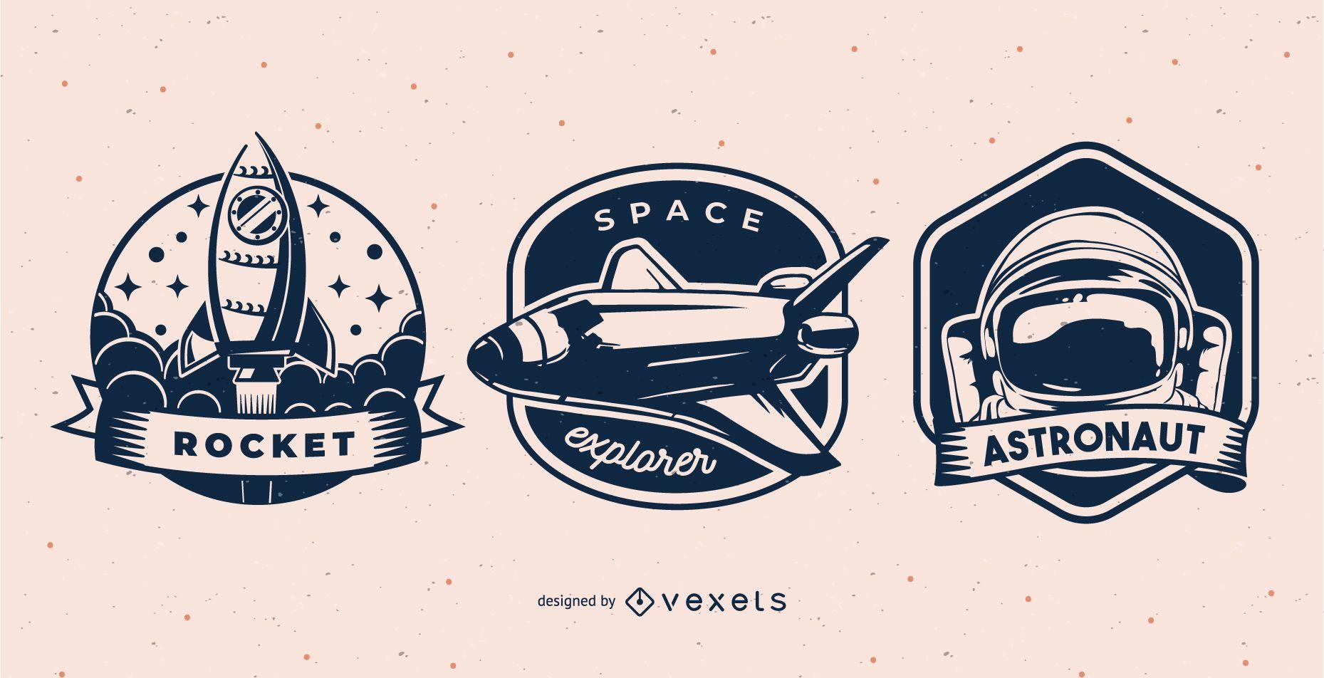 Conjunto de insignias espaciales