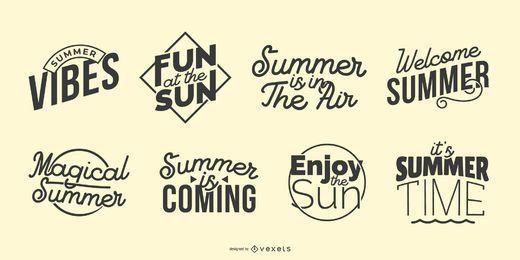 Conjunto de letras de verano