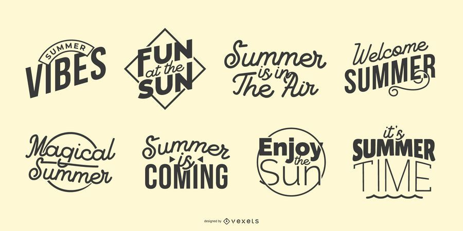 Summer lettering set